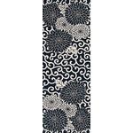 Arabesque Chrysanthemum - Tenugui (Japanese Multipurpose Hand Towel) - Indigo