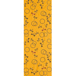 Dragonflies in the Autunm - Mini Tenugui (Japanese Multipurpose Hand Towel) - Yellow