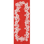 Hibiscus - Mini Tenugui (Japanese Multipurpose Hand Towel) - Red
