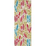 Surfing - Mini Tenugui (Japanese Multipurpose Hand Towel) - Yellow