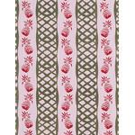 Pinapple - Mini Tenugui (Japanese Multipurpose Hand Towel) - Red
