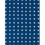 Shibori Rings - Mini Tenugui (Japanese Multipurpose Hand Towel) - Dark Cerulean