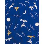 Rabbits in the Moonlight - Mini Tenugui (Japanese Multipurpose Hand Towel) - Blue