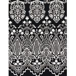 Lace - Mini Tenugui (Japanese Multipurpose Hand Towel) - Black