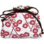 Morning Glory Kinchaku (Drawstring Bag)