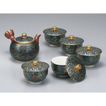 Kutaniyaki -  Green Tea Set (Old Man's Beard)