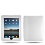 Carbon Fiberish Leather  iPad Hard Case (White)