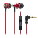 Audio-Technica - ATH-CK400i With mic and remote for iPod/iPhone/iPad (RD)