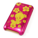 iPhone 3G/3GS Shell Jacket Looney Tunes Tweetie (Pink)