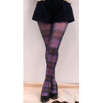 Harajuku Style Dark Tartan Tights/Leggings - Made in Japan