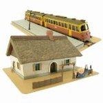 Spirited Away - Zeniba's House and Nankai Railway (Paper Craft)