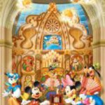 (2 dedicated Petit 16.5cm x 21.5cm, corresponding panel) Petit Jigsaw 2 Disney 500 small piece music box Cathedral