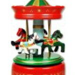 Merry-go-round carousel music box red green Ghibli Laputa Disney d9