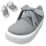 TOKYO BOPPER No.875 /  Gray nubuck ribbon shoes