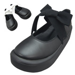 TOKYO BOPPER No.877 /  Black smooth ribbon shoes