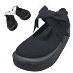 TOKYO BOPPER No.877 /  Black-R ribbon shoes