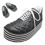 TOKYO BOPPER No.331 / Black-smooth leather - Black&white sole