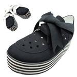 TOKYO BOPPER No.332 / Black-R - ribbon shoes