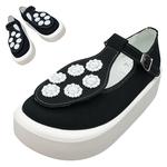 TOKYO BOPPER No.879 / Black & White bijou shoes