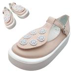 TOKYO BOPPER No.879 / White & Pink bijou shoes