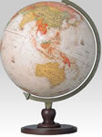 960 piece Antique-Style 3D Puzzle Globe with Crescent Stand (Japanese Text)