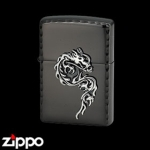 Dragon Zippo - Flame Dragon - Black 20FDMBNC