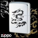 Dragon Zippo - Flame Dragon (Chrome)
