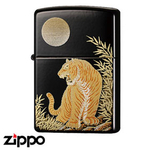 Zippo - Japanese Designs - Gold Moonlit Tiger