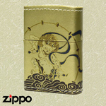 Zippo - Gold Leather Fortune Series - Raijin