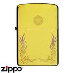 Zippo - Real Gold Leaf  Chrysanthemum Zippo