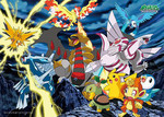 Pokemon Diamond and Pearl  - The Legendary Battle Jigsaw Puzzle