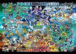 Pokemon Diamond and Pearl  - Pokemon World Jigsaw Puzzle
