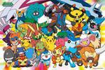 Pokemon Diamond and Pearl  - Group Shot Jigsaw Puzzle