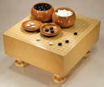 Size 50 Shin-Kaya Floor Go Board Set Superior