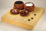 Size 20 Japanese Honshu Kaya Table Go Board Set