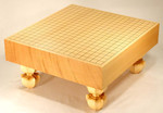 Size 30 Shin-Kaya Floor Go Board Set Excellent
