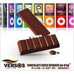 VERSOS - Chocolate Speaker for iPod (Raspberry)