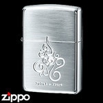 Sterling Silver Zippo - Spiral Heart Chaos