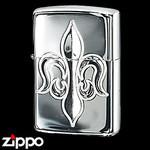 Sterling Silver Zippo - Fleur-de-Lis  (Hand Engraved)