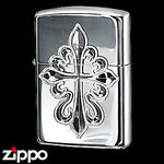 Sterling Silver Zippo - Royal Cross  (Hand Engraved)