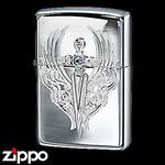 Sterling Silver Zippo - Victorian Dagger  (Light)