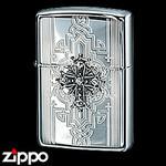 Sterling Silver Zippo - Victorian Cross