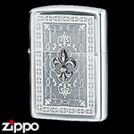 Sterling Silver Zippo - Victorian Fleur-de-Lis