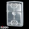 Sterling Silver Zippo - Victorian Heart II