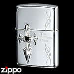 Sterling Silver Zippo - Brilliant Cross  (I)