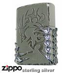 Sterling Silver Zippo - Tribal Beast