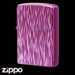 Engraved Zippo - Atomic Storm  (Purple)