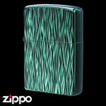 Engraved Zippo - Atomic Storm  (Emerald Black)