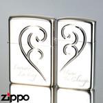 Pair Zippo - Hearts