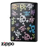 Skull Zippo - Pop Panic  (Black)